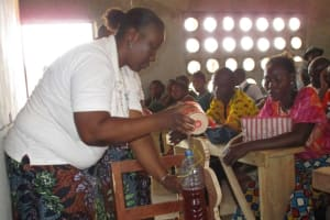 The Water Project: UBA Senior Secondary School -  Demonstration About Infant Diarrhea