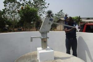 The Water Project: UBA Senior Secondary School -  Pump Testing