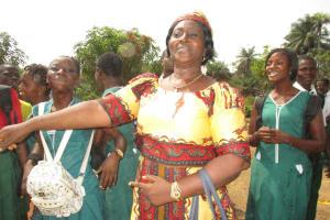 The Water Project: UBA Senior Secondary School -  Senior Teacher Juliana Kingsley Celebrating