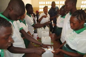 The Water Project: UBA Senior Secondary School -  Stdents Participating How To Prepare Tippy Tap