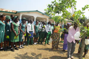 The Water Project: UBA Senior Secondary School -  The Community Headman Demonstrating How To Use The Tippy Tap