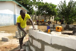 The Water Project: UBA Senior Secondary School -  Wall Construction