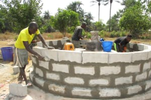 The Water Project: UBA Senior Secondary School -  Wall Nearly Complete