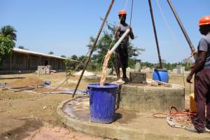 The Water Project: UBA Senior Secondary School -  Yield Test