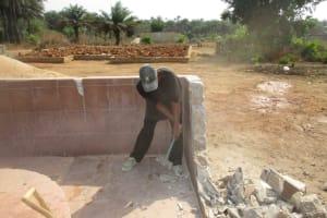 The Water Project: Rowana Junior Secondary School -  Demolishing Old Fence