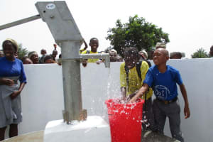 The Water Project: Rowana Junior Secondary School -  Student Playing With Clean Water