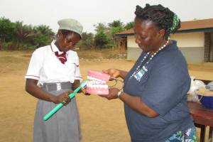 The Water Project: Rowana Junior Secondary School -  Teeth Brushing Demonstration