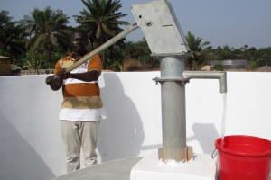 The Water Project: Rowana Junior Secondary School -  Testing Pump