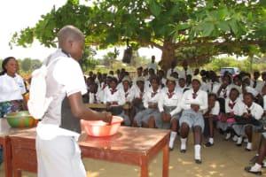 The Water Project: Rowana Junior Secondary School -  Three Handwashing System Demonstration
