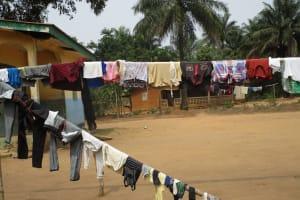 The Water Project: Lokomasama, Gbonkogbonko, Kankalay Primary School -  Clothes Drying