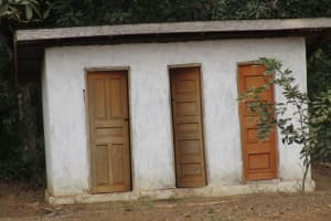 The Water Project: Lokomasama, Gbonkogbonko, Kankalay Primary School -  Community Latrine