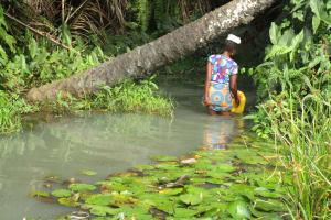 The Water Project: Lokomasama, Gbonkogbonko, Kankalay Primary School -  Fetching Water