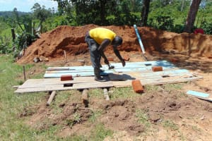 The Water Project: Ibwali Primary School -  Latrine Floor Construction