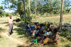 The Water Project: Shihingo Community, Mangweli Spring -  Training Convenes