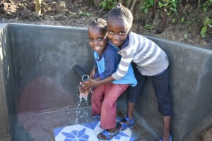 The Water Project: Eshiakhulo Community, Kweyu Spring -  Water And Smiles Give Life