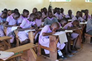 The Water Project: Mayoni Township Primary School -  Taking Notes