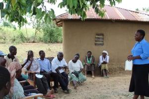 The Water Project: Mukhuyu Community, Kwakhalakayi Spring -  Training