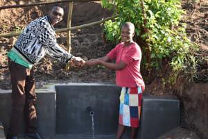 The Water Project: Eshiakhulo Community, Kweyu Spring -  Handing Spring Over To Community