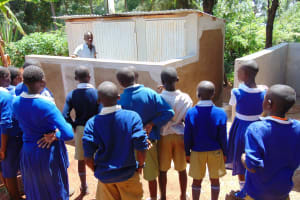 The Water Project: Kima Primary School -  Learning About The New Latrines