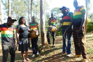 The Water Project: Shisere Community, Francis Atema Spring -  Training And The Traditional Drummers