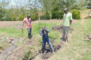 The Water Project: Eshiakhulo Community, Asman Sumba Spring -  Excavation