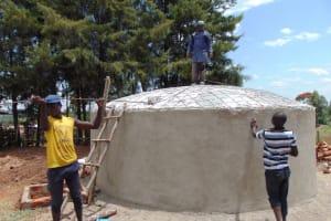 The Water Project: Musasa Secondary School -  Rain Tank Is Born