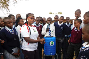 The Water Project: Immaculate Heart Secondary School -  Handwashing Training