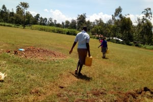The Water Project: Munyanza Primary School -  Delivering Water For Construction