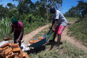 The Water Project: Malava Community, Ndevera Spring -  Bricks For Construction