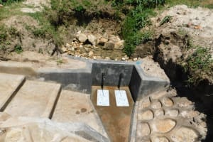 The Water Project: Shihingo Community, Mangweli Spring -  Construction Complete