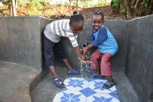 The Water Project: Eshiakhulo Community, Kweyu Spring -  Handwashing With Joy