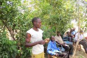The Water Project: Mukhuyu Community, Kwawanzala Spring -  Toothbrushing Training