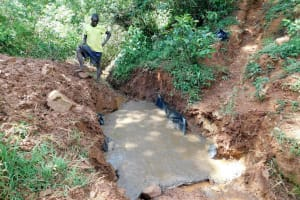 The Water Project: Mutao Community, Shimenga Spring -  Foundation
