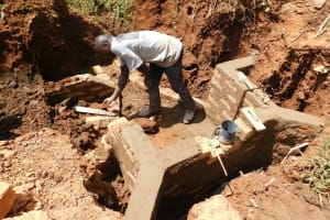 The Water Project: Shisere Community, Francis Atema Spring -  Spring Construction