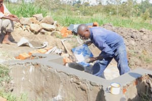 The Water Project: Eshiakhulo Community, Asman Sumba Spring -  Spring Construction
