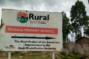 The Water Project: Musasa Primary School -  Electrification Sign