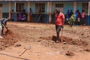 The Water Project: Kima Primary School -  Excavation