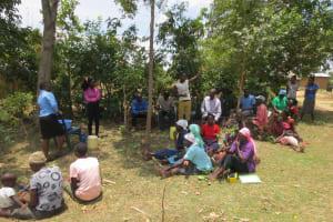 The Water Project: Mukhuyu Community, Kwawanzala Spring -  Training