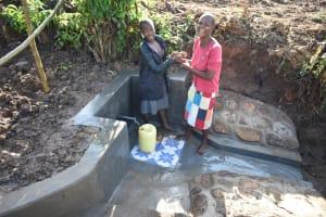 The Water Project: Eshiakhulo Community, Kweyu Spring -  Satisfied Beneficiaries