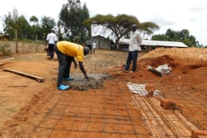 The Water Project: Immaculate Heart Secondary School -  Building The Latrine Foundation