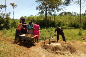 The Water Project: Munyanza Primary School -  Mixing Cement