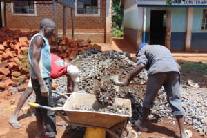 The Water Project: Kima Primary School -  Construction