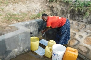 The Water Project: Shihingo Community, Mangweli Spring -  Washing Hands