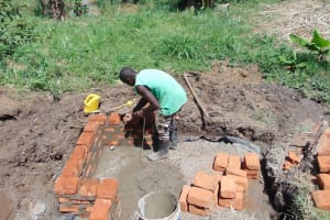 The Water Project: Musango Community, Mushikhulu Spring -  Taking Measurements