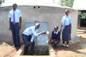 The Water Project: Musasa Secondary School -  Pouring A Fresh Drink