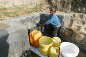 The Water Project: Shihingo Community, Mangweli Spring -  Smiles For Clean Water