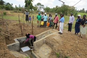 The Water Project: Mukhuyu Community, Kwawanzala Spring -  Spring Care Training