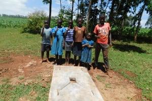 The Water Project: Mutao Community, Shimenga Spring -  Sanitation Platform
