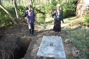 The Water Project: Eshiakhulo Community, Asman Sumba Spring -  Sanitation Platform
