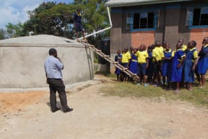 The Water Project: Ibwali Primary School -  Learning About Tank Management